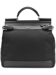 Dolce And Gabbana Cordura Backpack Men Cotton Calf Leather Polyamide One Size Black