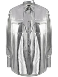 David Koma Oversized Metallic Shirt 60