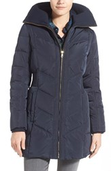 Cole Haan Signature Women's Cole Haan Down And Feather Fill Coat With Knit Collar