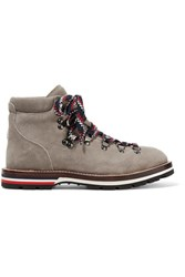 Moncler Blanche Suede Ankle Boots Mushroom