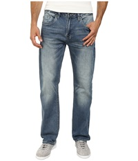 Buffalo David Bitton Six Slim Straight Leg Jeans Morelia Stretch Fabric In Distressed Worn Distressed Worn Men's Jeans Blue