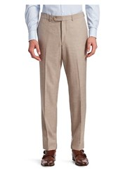Saks Fifth Avenue Collection Flat Front Trousers Taupe