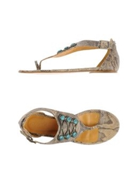 Tatoosh Thong Sandals Grey
