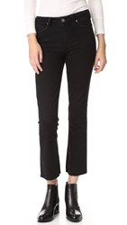Paige Collette Crop Flare Jeans Vintage Black