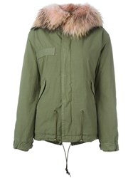 Mr And Mrs Italy Fur Hooded Parka Green