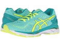 Asics Gel Kayano 23 Cockatoo Safety Yellow Lapis Women's Running Shoes Green