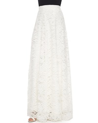 Haute Hippie High Waist Rosette Lace Maxi Skirt