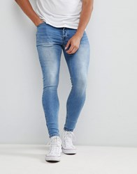 Kings Will Dream Super Skinny Jeans In Light Wash Blue