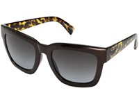 Von Zipper Juice Copper Chrome Tortoise Grey Gradient Sport Sunglasses Black