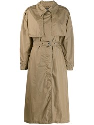 Isabel Marant Oversized Trench Coat Green