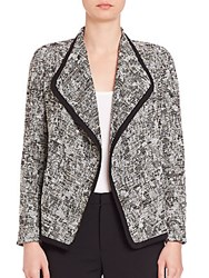 Vince Draped Boucle Jacket Off White Black