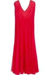 Valentino Silk Organza Gown Red