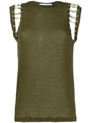 Iro 'Basma' Sleeveless Top Green