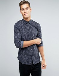Lindbergh Over Cross Print Shirt Black