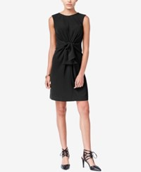 Bar Iii Knotted Sheath Dress Only At Macy's Deep Black