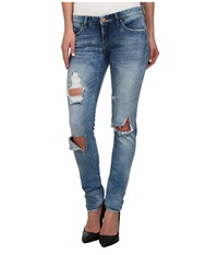 Blank Nyc Denim Distressed Skinny In Good Vibes Good Vibes Women's Jeans Multi