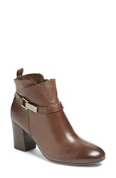 Paul Green Women's Kathy Bootie Chocolate Leather
