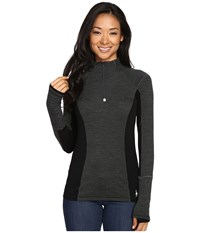 Smartwool Phd Light Zip Top Charcoal Heather Women's Long Sleeve Pullover Gray