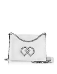 Dsquared2 Dd Leather Shoulder Bag White