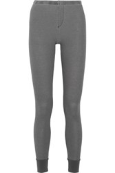 Splendid Nordic Waffle Knit Stretch Jersey Leggings Dark Gray