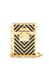 Mark Cross Nicole Chevron Body Bag Black