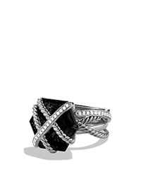 David Yurman Cable Wrap Ring With Black Onyx Silver