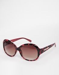 French Connection Oversized Sunglasses Redblack