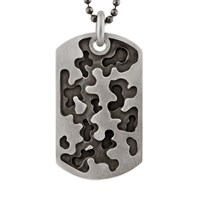 Snake Bones Camouflage Dog Tag In Sterling Silver