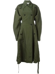 Celine Celine Oversized Trench Coat Green