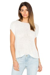 Atm Anthony Thomas Melillo Diagonal Stitch Pullover Top White