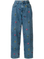 Tommy Hilfiger Embroidered Boyfriend Jeans Blue