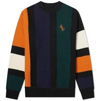 Aime Leon Dore Vertical Stripe Knitted Sweat Blue