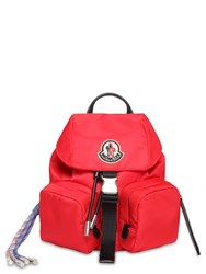 Moncler Mini Dauphine Nylon Backpack Red