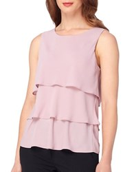 Tahari By Arthur S. Levine Rose Sleeveless Ruffled Top