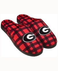 Forever Collectibles Georgia Bulldogs Flannel Slide Slippers Red
