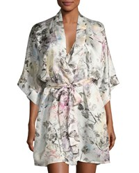 Christine Designs Juliet Silk Short Robe Multi Pattern Juliet Print