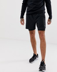 Calvin Klein Performance 2 In 1 Shorts In Black