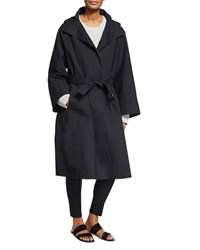 The Row Oversized Hooded Coat Black