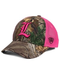 Top Of The World Women's Louisville Cardinals Hunter Snapback Cap Camo Pink
