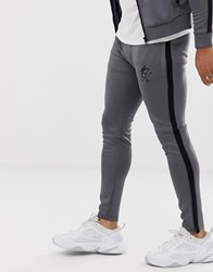 Gym King Piped Poly Tracksuit Joggers Grey