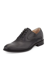 Robert Wayne Eddy Perforated Oxford Black