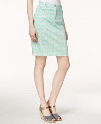 Charter Club Diamond Print Skort Only At Macy's Paris Green