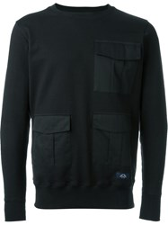 Bleu De Paname Cargo Pocket Sweatshirt Black