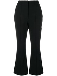Alexander Wang T By Cropped Flared Trousers Black
