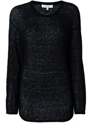 Iro Sheer Longsleeved T Shirt Black