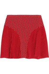 Joseph Marina Polka Dot Silk Crepe Mini Skirt