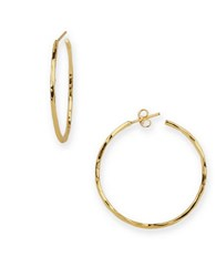 Argentovivo 18K Goldplated Sterling Silver Hammered Hoop Earrings