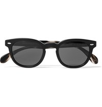 Oliver Peoples Sheldrake Round Frame Acetate Sunglasses Black