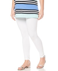 Motherhood Maternity Jersey Knit Leggings White