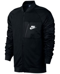 Nike Men's Advance 15 Fleece Bomber Jacket Black